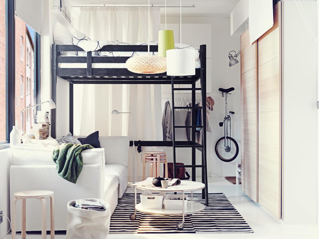 Big Living Small Space Bedroom Ideas Ikea Skandiblog