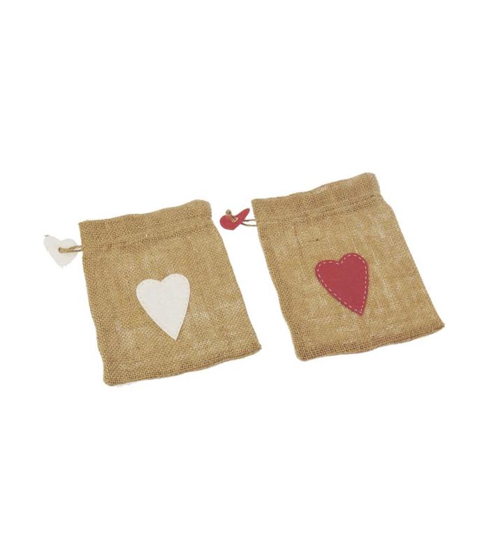 hemp gift bag with heart