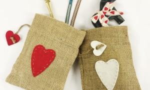 christmas heart bags