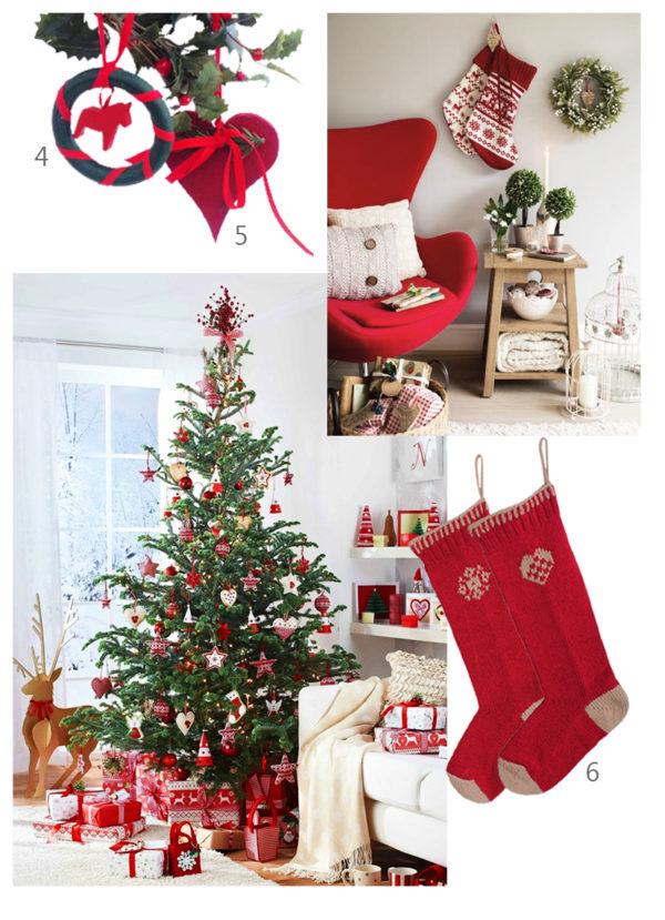 scandinavian christmas interior inspiration red and green home
