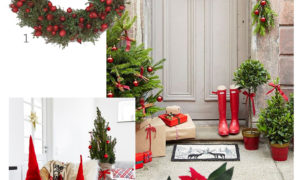 scandinavian christmas interior inspiration red and green home