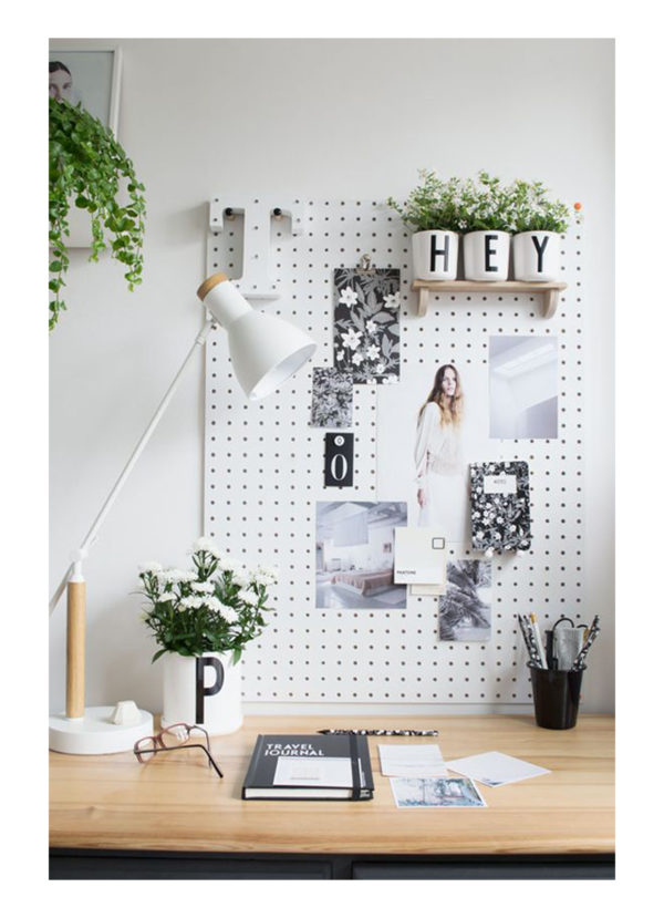inspiration for desk office spaces, scandinavian design pinterest