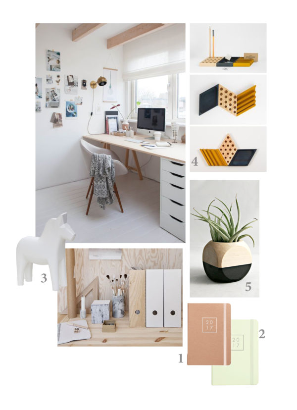 scandinavian inspiration for new year desk and office spaces mood board
