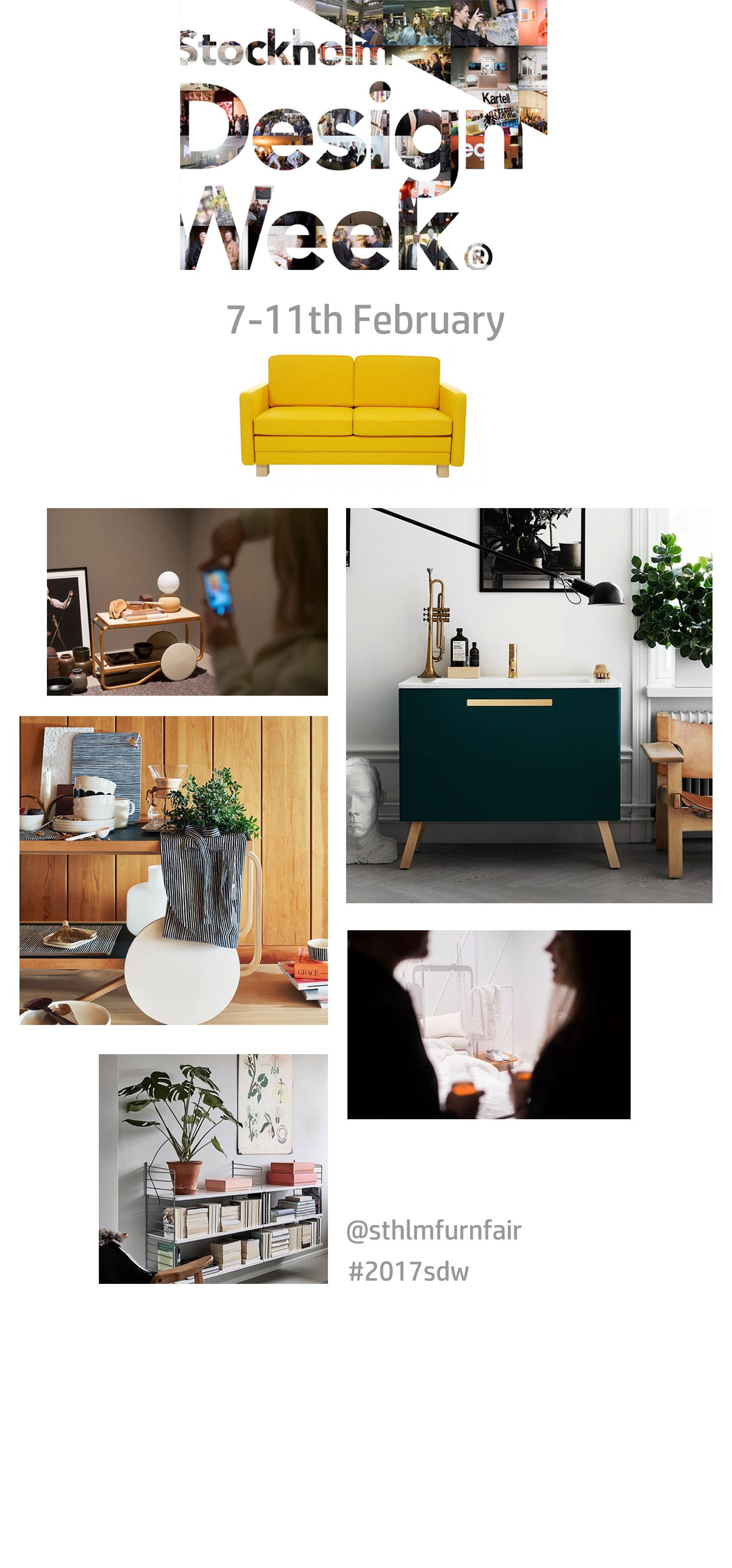 Scandi events 2017 stockholm design week for Design week 2017