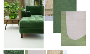 moodboard - scandi green rugs for interior inspiration via skandihome