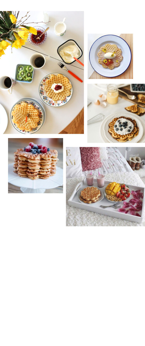 vaffeldagen waffle day in Sweden combined with mother's day