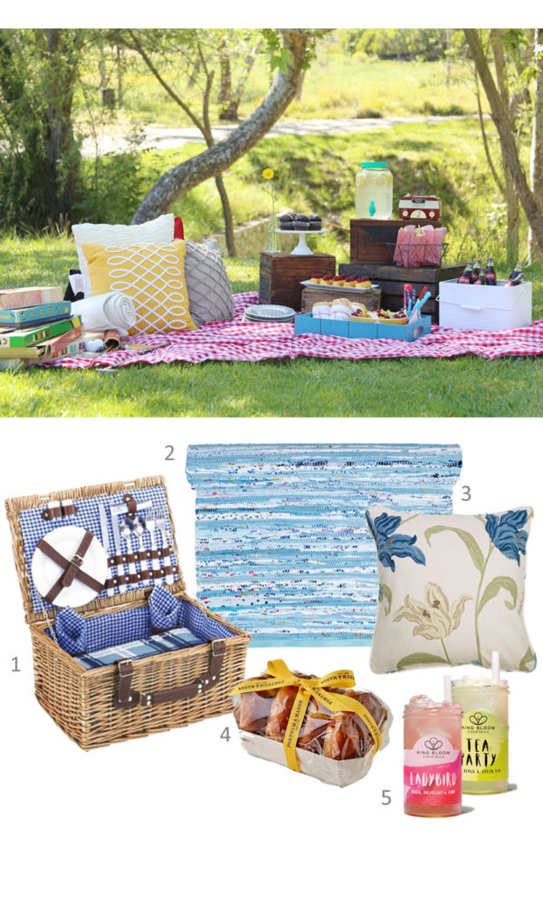 ideas for a spring picnic, picnic inspiration from skandihome