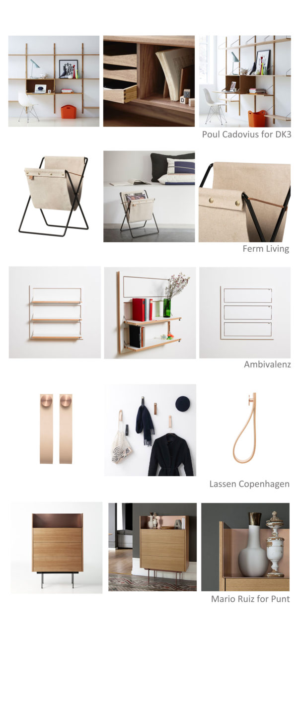 top 5 scandi storage ideas for spring clean moodboard