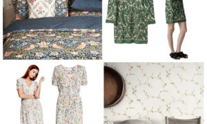 fashion versus interiors, blog post by skandihome. william morris, h&m, sandberg wallpapers and gianni