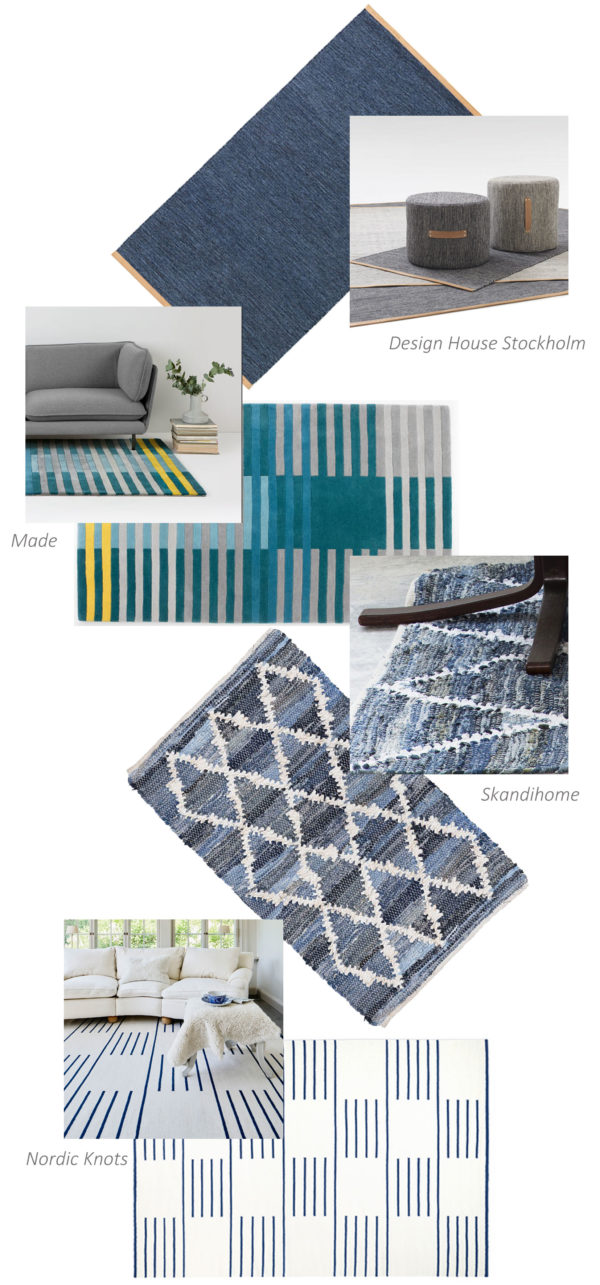 scandinavian interior blog - may rug edit blues and whites
