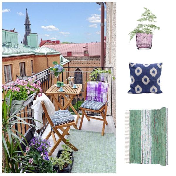 July Hot List - A Swedish summer balcony