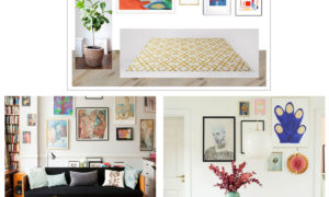 scandinavian wall art collage