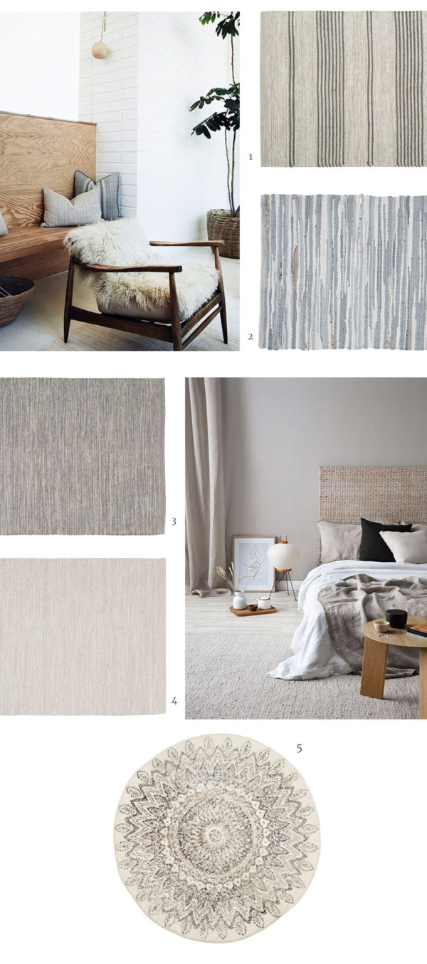 neutral interior inspiration, rugs and floor runners for scandinavian inspired homes