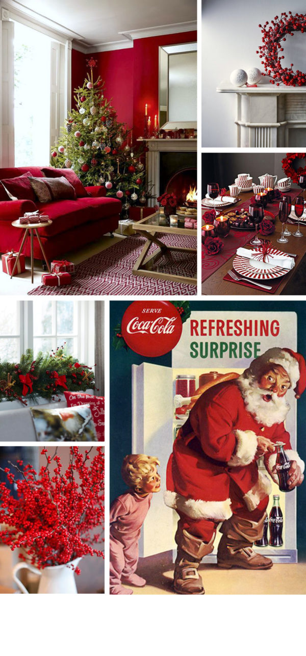 the origin of christmas red moodboard from skandiblog