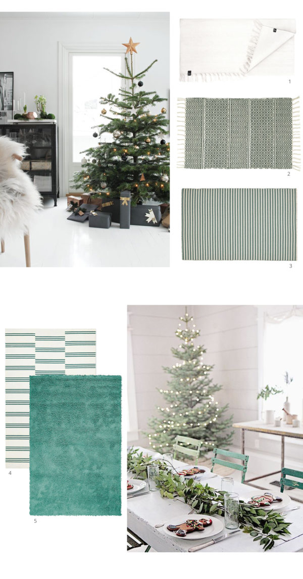 Festive Interior Inspiration - Green and white from skandihome and skandiblog