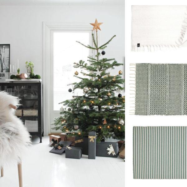 Festive Interior Inspiration - Green and white from skandihome and skandiblog