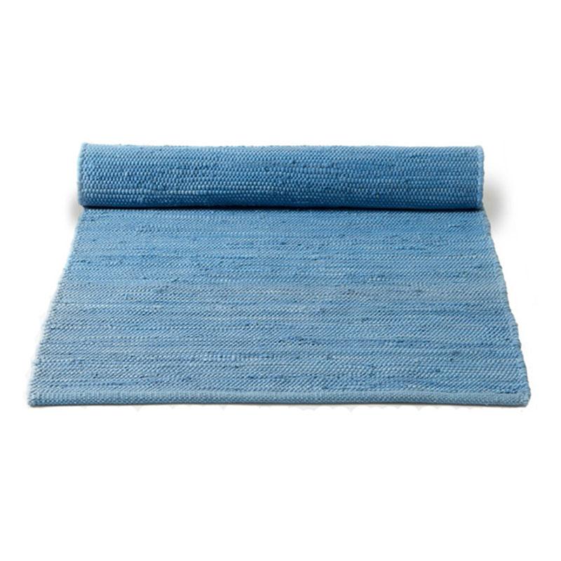 Kitchen Rugs Washable Plain Blue Washable Cotton Rag Rug