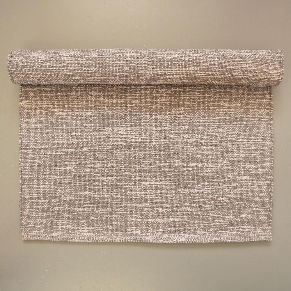 Scandinavian Grey Cotton Floor Runner