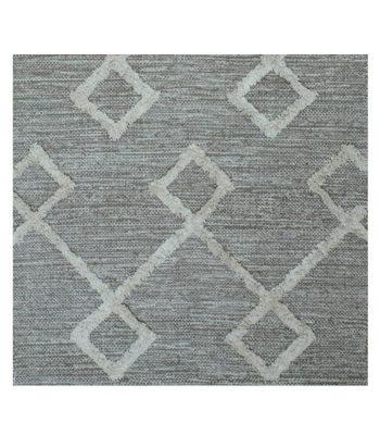 Striped Grey And Off White Cotton Floor Runner Skandihome